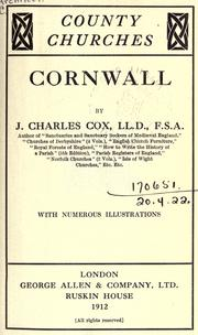 Cover of: Cornwall | J. Charles Cox