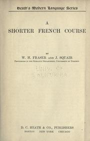 Cover of: A shorter French course | W. H. Fraser