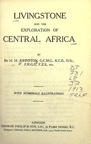 Cover of: Livingstone and the exploration of Central Africa by Harry Hamilton Johnston