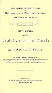 Cover of: Local government in Canada | Bourinot, John George Sir