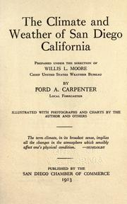 Cover of: The climate and weather of San Diego, California | Carpenter, Ford A.