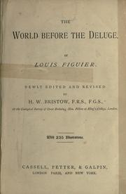 Cover of: The world before the deluge | Louis Figuier