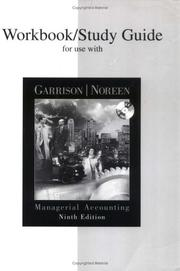Cover of: Workbook/Study Guide for use with Managerial Accounting by Ray H. Garrison