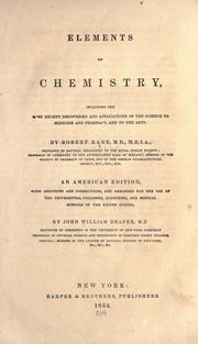Cover of: Elements of chemistry | Kane, Robert