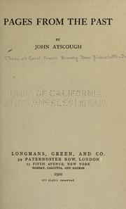 Cover of: Pages from the past | John Ayscough