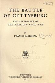 Cover of: The battle of Gettysburg | Francis Marshal Pierce