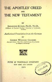 Cover of: The Apostles creed and the New Testament | Kunze, Johannes