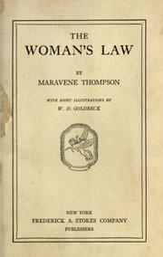 Cover of: The woman's law by Maravene Thompson