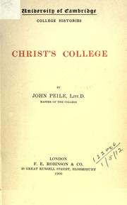 Cover of: Christ's college | John Peile
