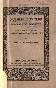 Cover of: Number puzzles before the log fire | David Eugene Smith