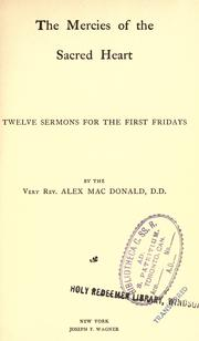 Cover of: The mercies of the Sacred Heart | MacDonald, Alexander
