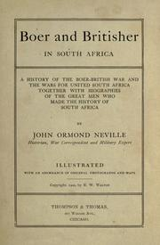 Cover of: Boer and Britisher in South Africa by John Ormond Neville