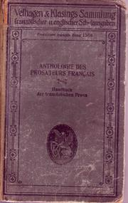 Cover of: Anthologie des prosateurs français contemporains .... (1850 à nos jours) | Georges Pellissier
