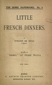 Cover of: Little French dinners | Eveleen De Rivaz
