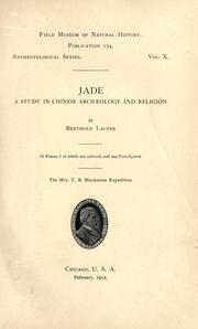 Cover of: Jade by Berthold Laufer