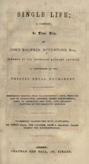 Cover of: Single life by Buckstone, John Baldwin