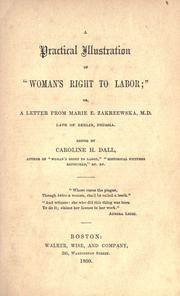 "Cover of: A practical illustration of ""Woman's right to labor;"" 
