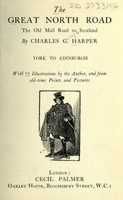 Cover of: The Great North road by Charles George Harper