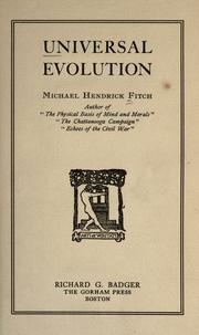 Cover of: Universal evolution | Michael Hendrick Fitch