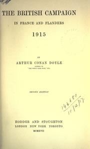 Cover of: The British campaign in France and Flanders | Sir Arthur Conan Doyle