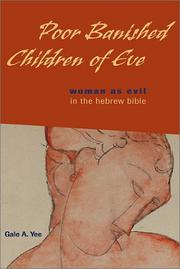 Cover of: Poor banished children of Eve by Gale A. Yee