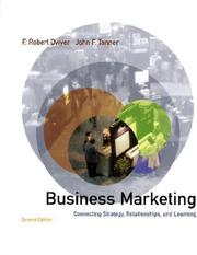 Cover of: Business Marketing (McGraw-Hill/Irwin Series in Marketing) by F.Robert Dwyer