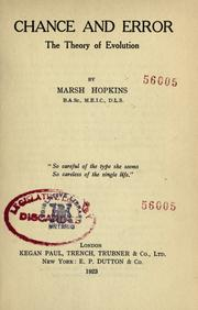 Cover of: Chance and error | Marsh Hopkins