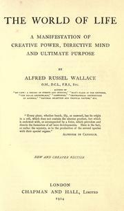 Cover of: The world of life | Alfred Russel Wallace