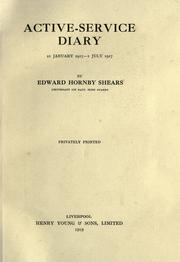 Cover of: Active-service diary, 21 jan. 1917-1 | Edward Hornby Shears