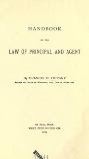 Cover of: Handbook of the law of principal and agent | Francis B. Tiffany