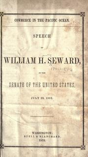 Cover of: Commerce in the Pacific ocean | William Henry Seward