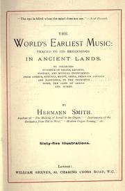 Cover of: The world's earliest music | Hermann Smith