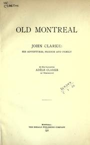 Cover of: Old Montreal | Adele Clarke
