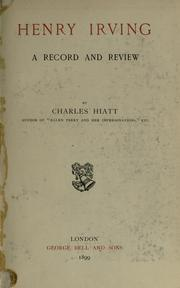 Cover of: Henry Irving | Charles Hiatt