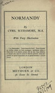 Cover of: Normandy | Cyril Scudamore