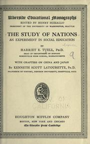 Cover of: The study of nations | Harriet Emily Tuell