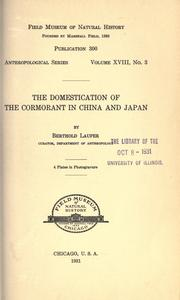 Cover of: The domestication of the cormorant in China and Japan by Berthold Laufer