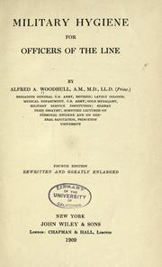 Cover of: Military hygiene, for officers of the line | Woodhull, Alfred A.
