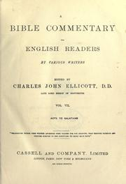 A Bible commentary for English readers