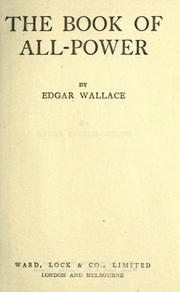 Cover of: The book of all power by Edgar Wallace