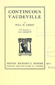Cover of: Continuous vaudeville by Will M. Cressy