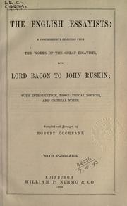 Cover of: The English essayists by Robert Cochrane