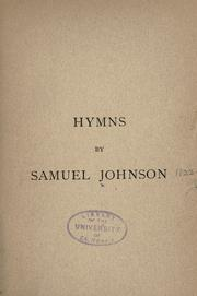 Cover of: Hymns by Johnson, Samuel