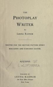 Cover of: The photoplay writer | Leona Radnor