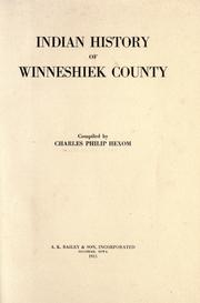 Cover of: Indian history of Winneshiek county | Charles Philip Hexom