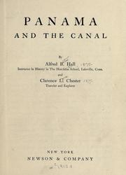 Cover of: Panama and the canal | Alfred B. Hall