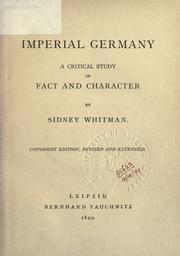 Cover of: Imperial Germany | Sidney Whitman
