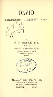 Cover of: David by Meyer, F. B.