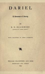 Cover of: Dariel by R. D. Blackmore
