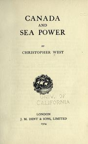 Cover of: Canada and sea power | Christopher West